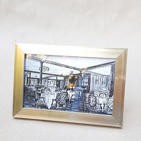 Foto rāmītis ar sudraboti matētu rāmi