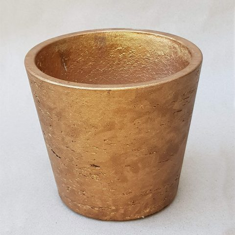 Keramikas matēts zelta trauks