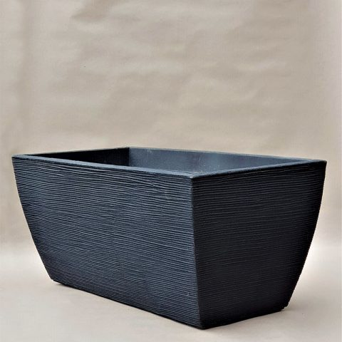 Plastikāta tumši pelēka puķu kaste